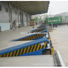 High quality!! stationary hydraulic dock ramp for trucks unloading
